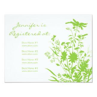 """Tarjeta del registro del Wildflower - 4,25"""" x 5,5"""" Invitación 4.25"""" X 5.5"""""""