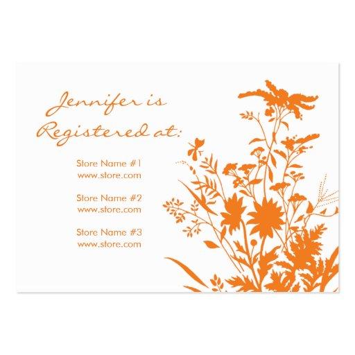 Tarjeta del registro del Wildflower Plantillas De Tarjetas De Visita