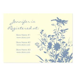 Tarjeta del registro del Wildflower Tarjetas De Visita Grandes
