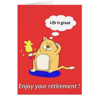 tarjeta del retierment