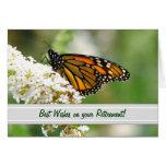 Tarjeta del retiro de la mariposa de monarca de El