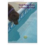 Tarjeta del retiro para los amantes del perro