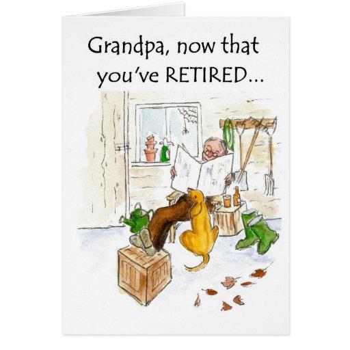 Tarjeta del retiro para un abuelo