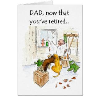 Tarjeta del retiro para un padre