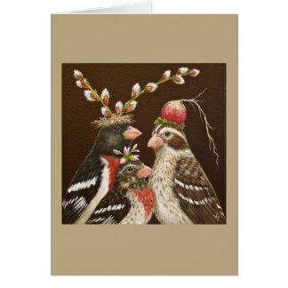 Tarjeta del retrato de la familia del pájaro