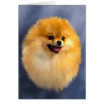 Tarjeta del retrato de Pomeranian