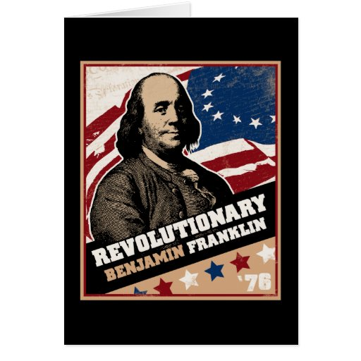 Tarjeta del revolucionario de Benjamin Franklin