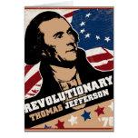 Tarjeta del revolucionario de Thomas Jefferson