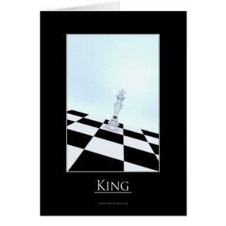 Tarjeta del rey felicitación
