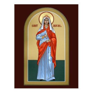 Tarjeta del rezo de Abigail del santo Tarjetas Postales