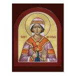 Tarjeta del rezo de Alexandra del santo Tarjetas Postales