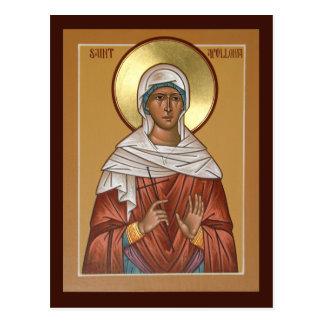 Tarjeta del rezo de Apollonia del santo Tarjetas Postales