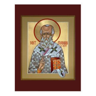 Tarjeta del rezo de Athanasius del santo Postal