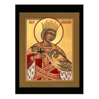 Tarjeta del rezo de Catherine del santo Postal