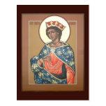 Tarjeta del rezo de Catherine del santo Tarjetas Postales
