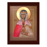 Tarjeta del rezo de Cecilia del santo Tarjetas Postales