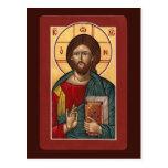 Tarjeta del rezo de Cristo Pantocrator Tarjetas Postales