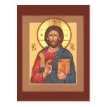 Tarjeta del rezo de Cristo Pantocrator Tarjeta Postal