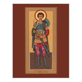 Tarjeta del rezo de Demetrios del santo Postal