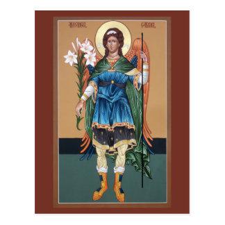Tarjeta del rezo de Gabriel del arcángel Tarjetas Postales