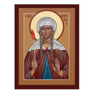 Tarjeta del rezo de Genevieve del santo Tarjeta Postal