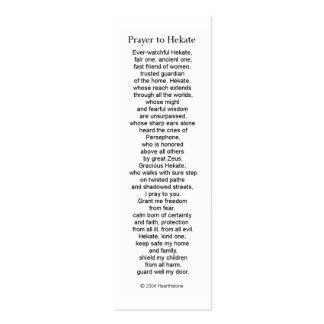 Tarjeta del rezo de Hecate (Hekate) Tarjetas De Visita Mini