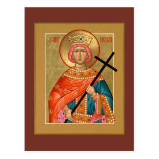 Tarjeta del rezo de Helen del santo Postal
