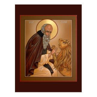 Tarjeta del rezo de Jerome del santo Tarjetas Postales
