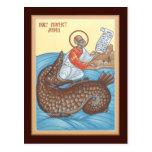 Tarjeta del rezo de Jonah del profeta Postal