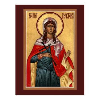 Tarjeta del rezo de Kyriaki del santo Tarjetas Postales