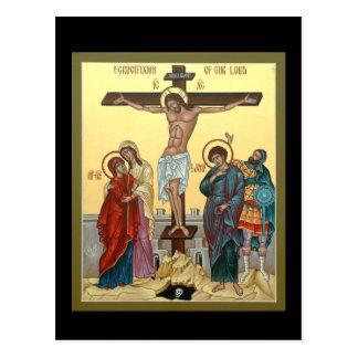 Tarjeta del rezo de la crucifixión postal