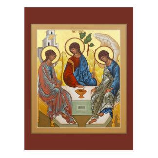 Tarjeta del rezo de la trinidad santa postales