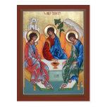 Tarjeta del rezo de la trinidad santa tarjeta postal