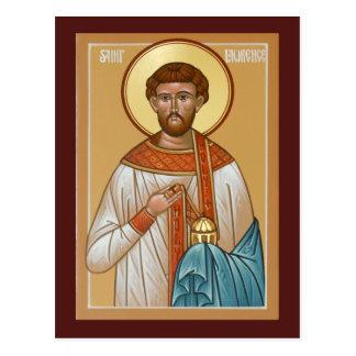 Tarjeta del rezo de Lorenzo del santo Postal