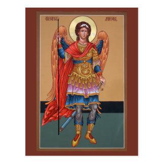 Tarjeta del rezo de Michael del arcángel Postales