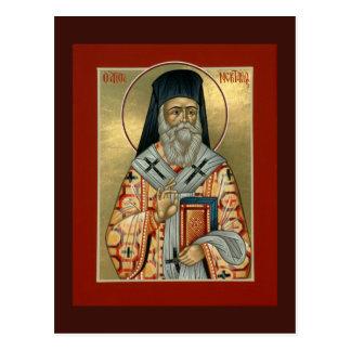 Tarjeta del rezo de Nektarios del santo Tarjetas Postales