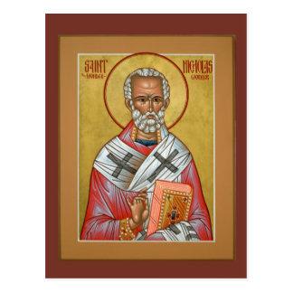 Tarjeta del rezo de Nicholas del santo Tarjeta Postal