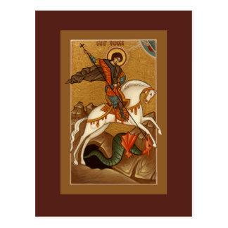 Tarjeta del rezo de San Jorge Tarjetas Postales
