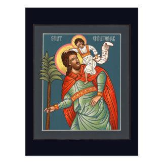 Tarjeta del rezo de St Christopher Postal