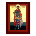 Tarjeta del rezo de Theodore del santo Postales