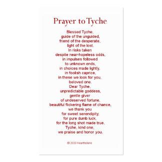 Tarjeta del rezo de Tyche (Fortuna) Tarjetas De Visita
