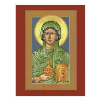 Tarjeta del rezo del St. Anastasia Postal