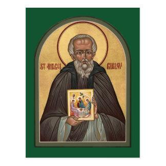 Tarjeta del rezo del St. Andrei Rublev Postal