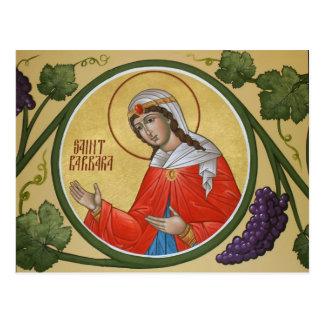 Tarjeta del rezo del St. Barbara Postales