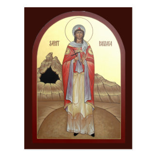 Tarjeta del rezo del St. Barbara Tarjetas Postales