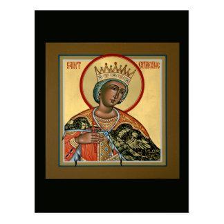 Tarjeta del rezo del St. Catherine Tarjeta Postal