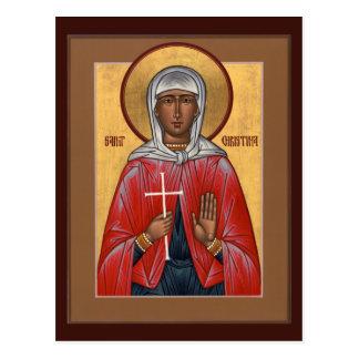 Tarjeta del rezo del St. Christina Postales