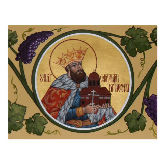 Tarjeta del rezo del St. Constantino Brancoveanu Postal
