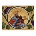 Tarjeta del rezo del St. Constantino Brancoveanu Tarjeta Postal