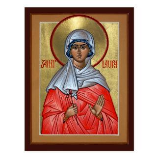Tarjeta del rezo del St. Laura Tarjetas Postales